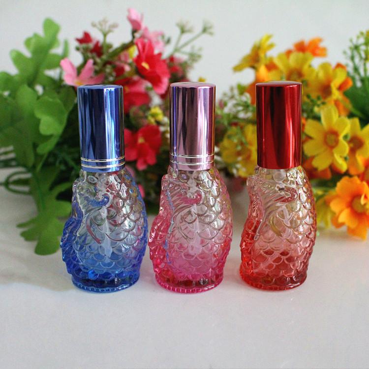 New Arrival Perfume Bottles 10ml Spray Perfume Shop Color Vials Perfume Bottle Small Nozzle 4PCS/LOT(China (Mainland))