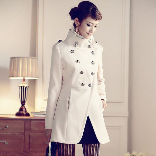 Womens military style winter coats