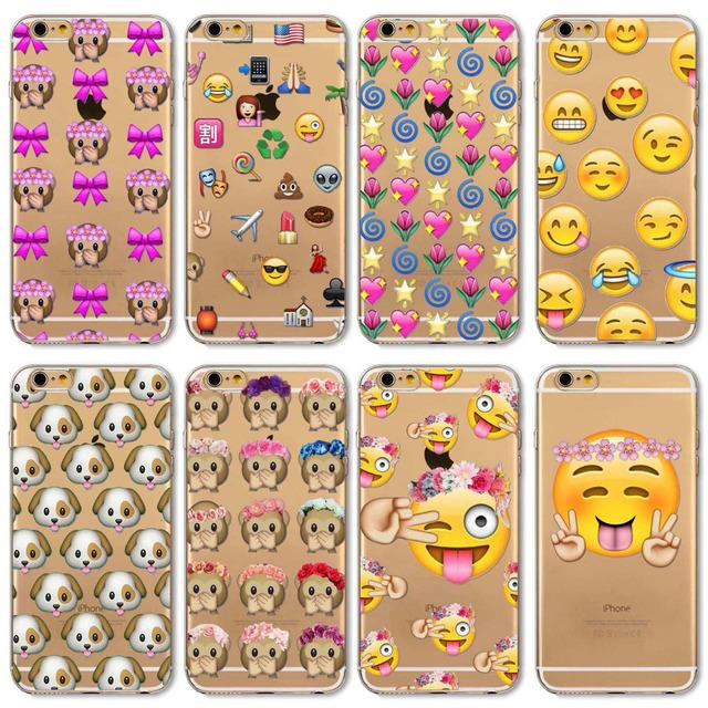 Etui iPhone 4/4S/5/5S/SE/5C/6/6S/6Plus/6SPlus Emoji różne wzory