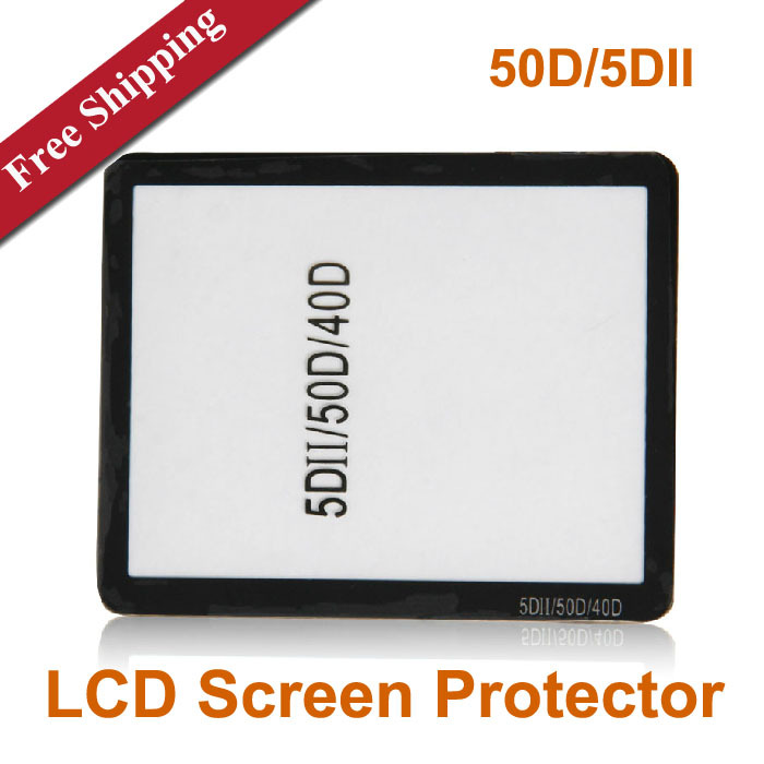 Cameras Glass LCD Screen Protector for Canon 50D/5DII 40D DSLR Camera Free shipping(China (Mainland))