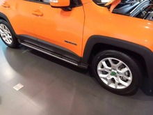 Car Styling Refitting Parts Side steps Running Boards Fit For Jeep 2016 Renegade Vehicle Plastic and aluminum alloy(China (Mainland))