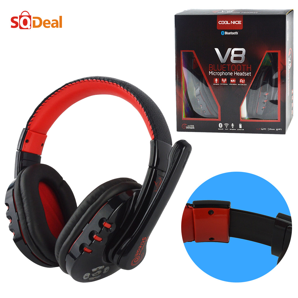 High Quality Hifi Bluetooth Wireless PC Gaming Game Headset Headphone Stereo Sound Micro Earphone for Laptop Computer Tablet PS3(China (Mainland))