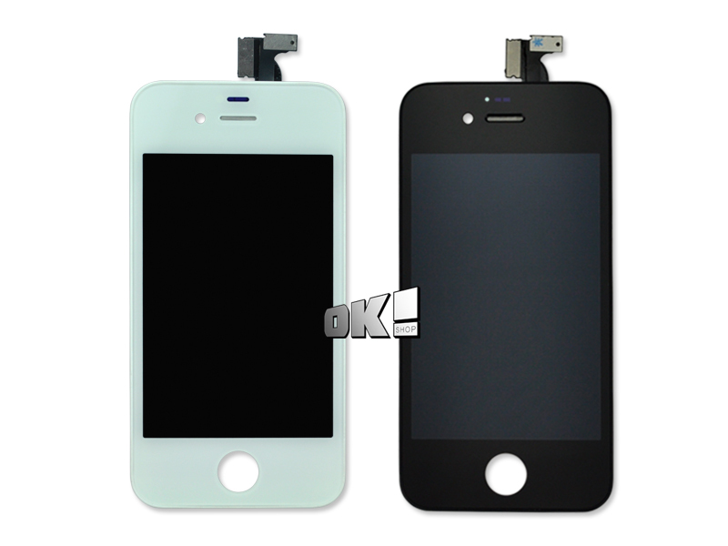 2pcs LCD Touch Screen + Display Digitizer Assembly Replacement For iPhone 4 4G 4S GSM CDMA Black/White(China (Mainland))