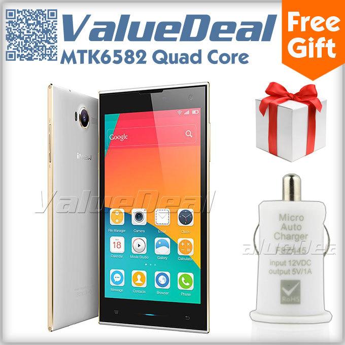 Original Inew V7 MTK6582 Quad Core Cell Phones Android 4.4 3G Smartphone 5.0''HD IPS 2GB RAM 16GB ROM WCDMA 16MP Camera New 2014(China (Mainland))