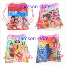 1pcs Mia and Me cartoon non-woven fabrics drawstring backpack,event party gift Travel Home Clothing Organizer Storage Bags(China (Mainland))