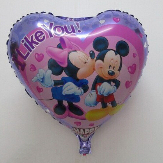 Free Shipping Fashion Product Cartoon Balloon Lovely Mikey Mouse Wedding Balloons(China (Mainland))