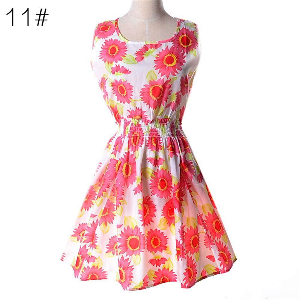 Fashion Tunic Women Dress 2016 Plus Size XXL O-neck WOMEN DRESS Summer Style Floral Print Casual Dresses Women Vestidos Woman (37)