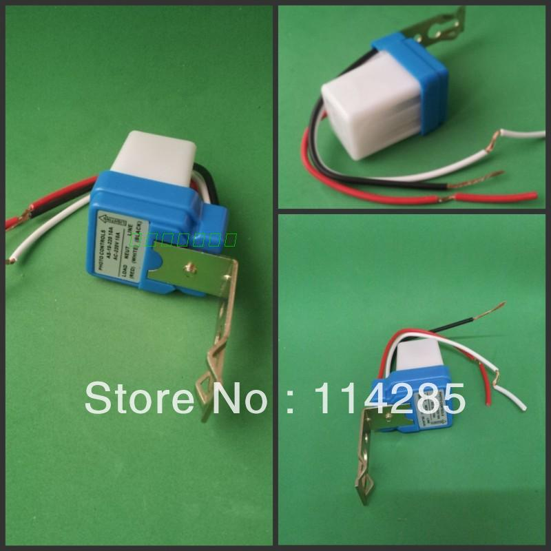 New 1pc Auto On Off Light Switch Photo Control Sensor AC220V 10A(China (Mainland))