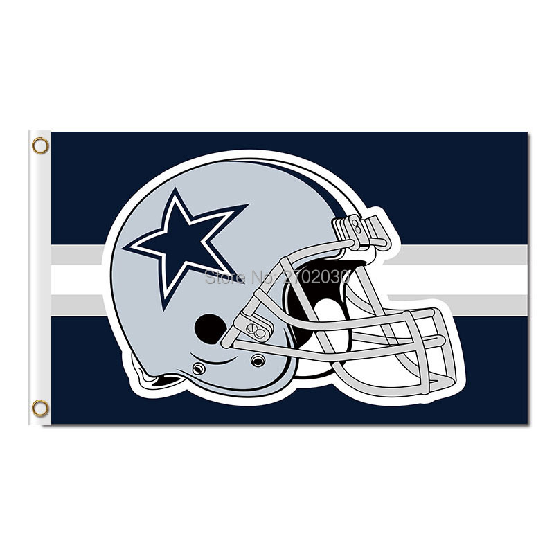 Dallas Cowboys Helmet Flag World Series 2016 3ft X 5ft Premium Football Team Jersey Dallas Cowboys Flag Helmet Banner(China (Mainland))