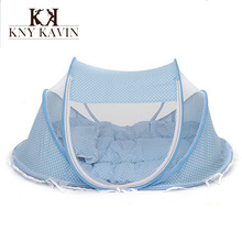 2015 Spring Winter 0-3Years Baby Bed Portable Foldable Baby Crib With Netting Newborn Sleep Bed Travel Bed Baby 100%Cotton HK357(China (Mainland))