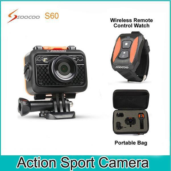 The original SOOCOO S60 operating 1080P60 meter diving waterproof camera with WiFi and radio control watch SJ4000 Style(China (Mainland))