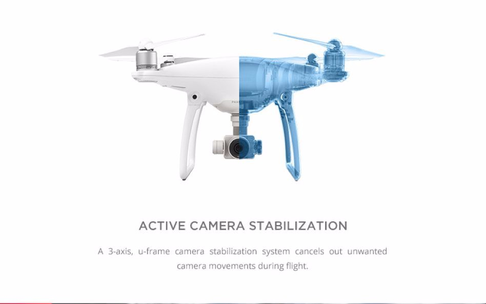 100% Original DJI Phantom 4 With One Extra Battery FPV Drone Buit in 4K HD Camera GPS System Professional Quadcopter
