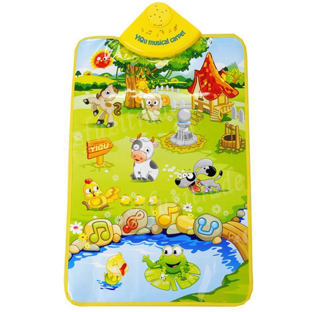Delicate Music Sound Farm Animal Kids Baby Play Playing Mat Carpet Play Mat Gym Toy Hot Selling -50(China (Mainland))