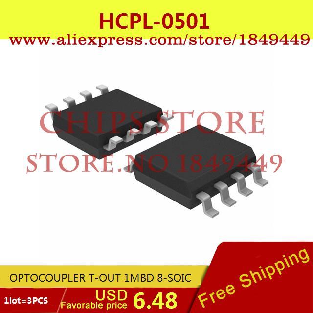 Бесплатная Доставка Электронный ОПТОПАРА 1MBD T-OUT 8-SOIC 0501 HCPL0501 HCPL-0501 3 ШТ. max6225aesa t 8 soic