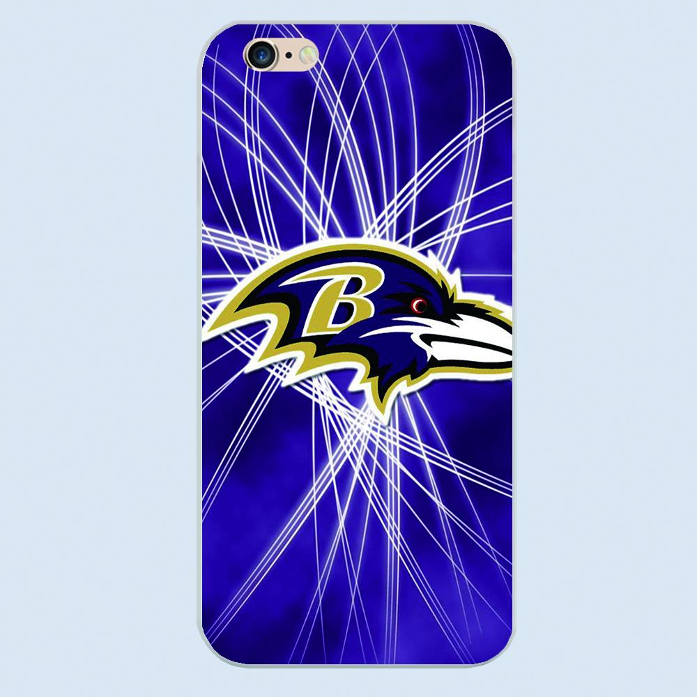 Baltimore Ravens cartoon Fashion Bird Animal Flamingo Plastic White cover hard cases for Apple iPhone 6 6S Plus 5 5S 5c 4 4s(China (Mainland))
