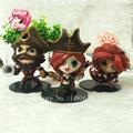 3pcs set LOL Gangplank Katarina Miss Fortune PVC Action Figures Model Collectible Toys 8 11cm