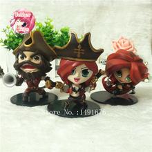 3pcs/set LOL Gangplank Katarina Miss Fortune PVC Action Figures Model Collectible Toys 8-11cm