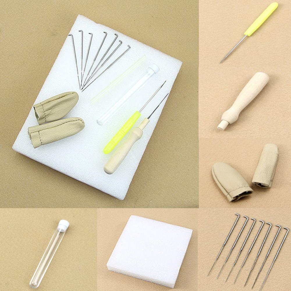 F85 Free Shipping 1set Needle Felting Starter Kit Wool Felt Tools Mat + Needle + Accessories Craft(China (Mainland))