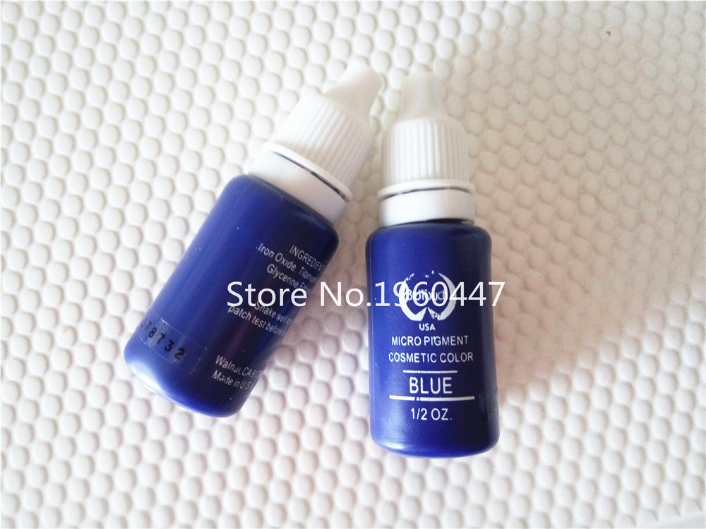 2pcs/lot BLUE colors biotouch tattoo ink set permanent makeup pigments 15ml cosmetic paint for eyebrow eyeliner lip