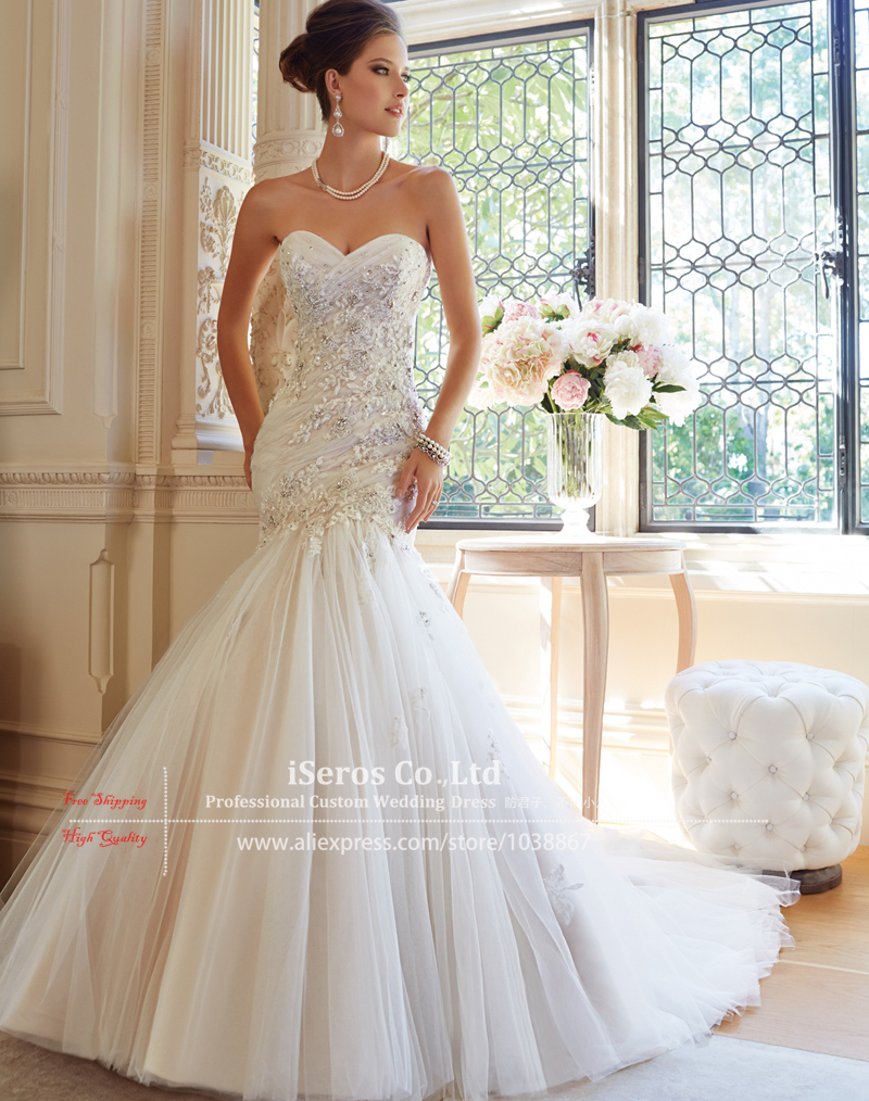 2015 customize designer ivory lace beaded corset for Sexy corset wedding dress