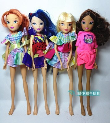 Free Shipping 4pcs/1lot   Height 30cm  2014 New Authentic Winx Club Dolls For Girls Gift   brinquedos juguetes <br><br>Aliexpress