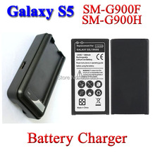 Buy 2x3800mah battery + Charger Samsung Galaxy S5 i9600 SM-N900 SM-G900H SM-G900F SM G900H/F/V Batterie Bateria Batterij AKKU for $18.11 in AliExpress store