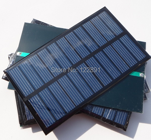 Wholesale! 15pcs/lot 5.5V 1.6W Mini Solar Panels Small Solar power 3 ...