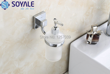 Free Shipping bathroom accessories zinc alloy Chrome Soap liquid Dispenser  foggy glass SY-6179(China (Mainland))