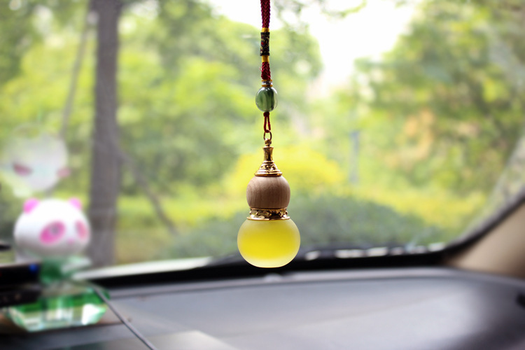 Gourd Pattern Auto Car Hanging Decor Ornament Perfume Decoration Pendant Essential Oil Fragrance Air Freshener Cleaner(China (Mainland))