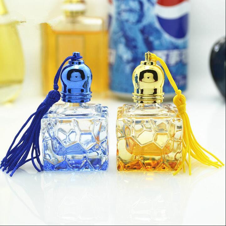 Ferr Shipping 7ml Glass Perfume Roll on Quadrate Bottles Yellow Pink Blue Clear Parfume Wen perfume Empty Packing Glass Bottles(China (Mainland))