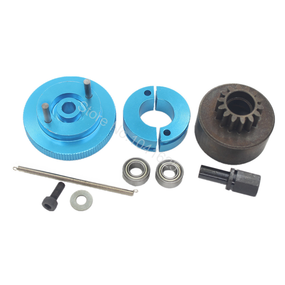 1 Set Flywheel Clutchbell 14T 10095 Tooth Clutch Bell with Ball Bearing 10*5*4mm for Remote Control Car Engine Parts Blue(China (Mainland))
