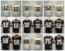Stitiched,Pittsburgh Steelers,Terry Bradshaw,Franco Harris,Bettis,Mike Webster,Jack Lambert,Joe Greene,Lynn Swann,Throwback(China (Mainland))
