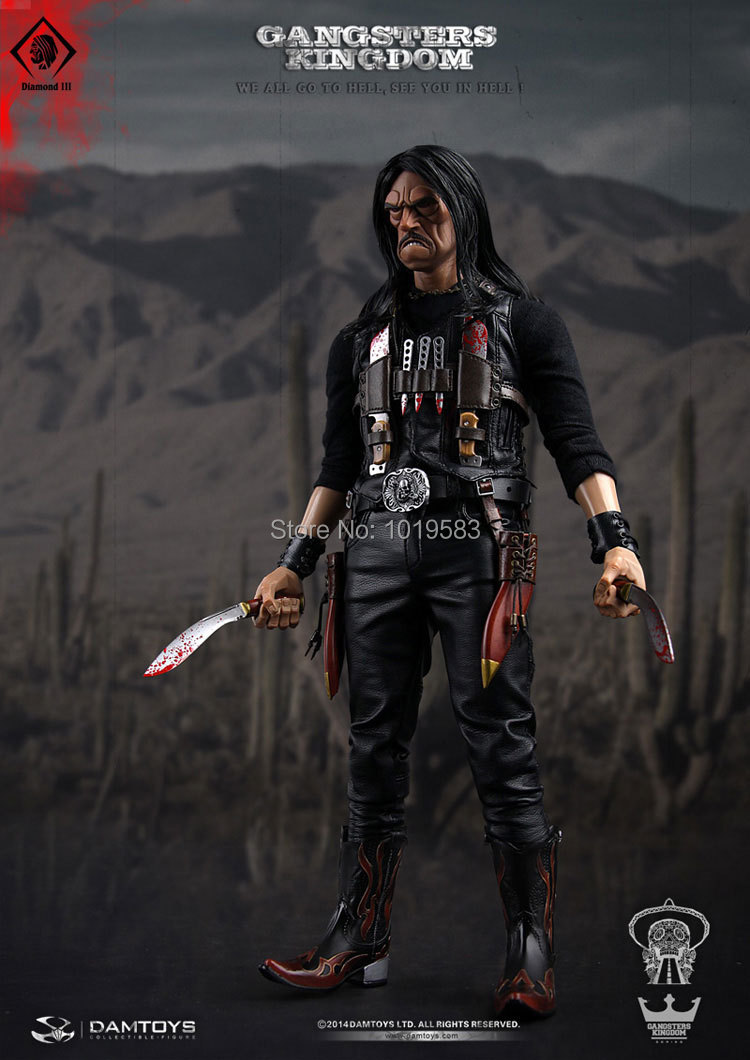 Free Shipping Brand New 1/6 Scale Gangs Kingdom Diamond 3 Juarez 12 PVC Cool DIY Action Figure Model Toy For Collection/Gift<br><br>Aliexpress