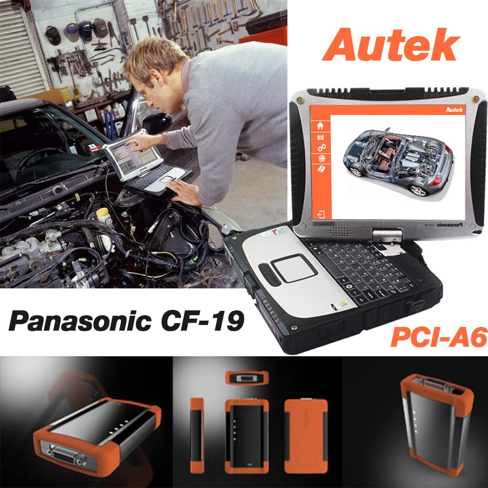CF-19 CORE(DUAL) 4GB Diagnostic Laptop + Autek PCI A6 Professional ABS SRS EPB Key programming Automotive Diagnostic Tool(Hong Kong)