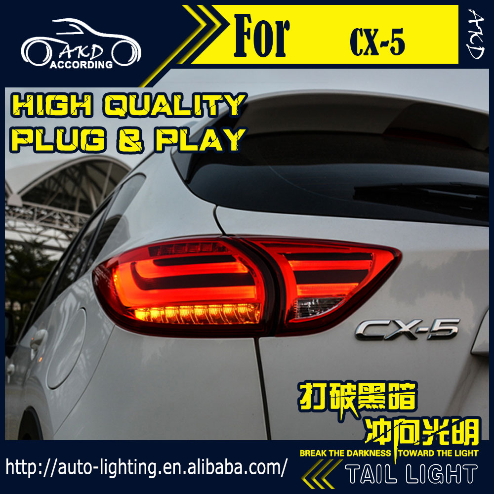 Car Styling Tail Lamp for Mazda CX-5 Tail Lights 2012-2016 CX-5 LED Tail Light Rear Lamp LED DRL+Brake+Park+Signal Stop Lamp(China (Mainland))