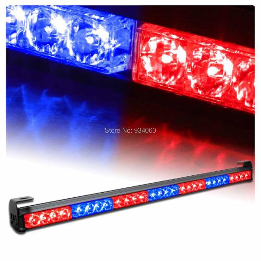 """7 Modes 31.5"""" LED Amber Red Emergency Hazard Warning Traffic Advisor Vehicle Strobe Light Bar Wholesael(China (Mainland))"""