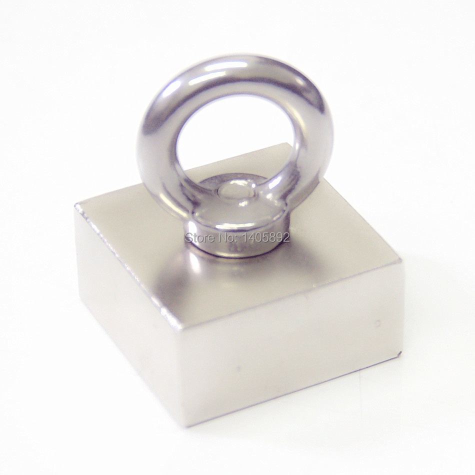 Super Powerful Strong Rare Earth block hole magnet Neodymium N50 Magnets F50*50*25mm- Free Shipping(China (Mainland))
