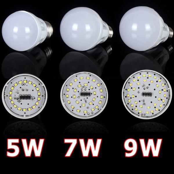 3W 5W 7W 9W 12W Led Bulb 110V 220V 230V 240V E27 SMD 2835 Led Lamp Cold/Warm White Led Light Spotlight<br><br>Aliexpress