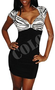 New arrival women's crazy striped deep v neck sexy bar disco dance dresses,1pcs+freeshipping