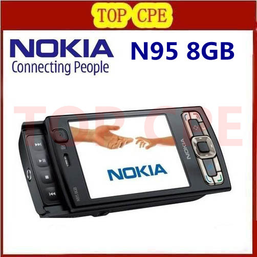 Refurbished Original NOKIA N95 8GB internal memory GPS WIFI NOKIA N95 8G original quad band phone(China (Mainland))