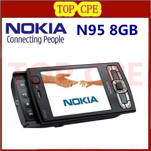 Refurbished Original NOKIA N95 8GB internal memory GPS WIFI NOKIA N95 8G original quad band phone(China (Mainland))