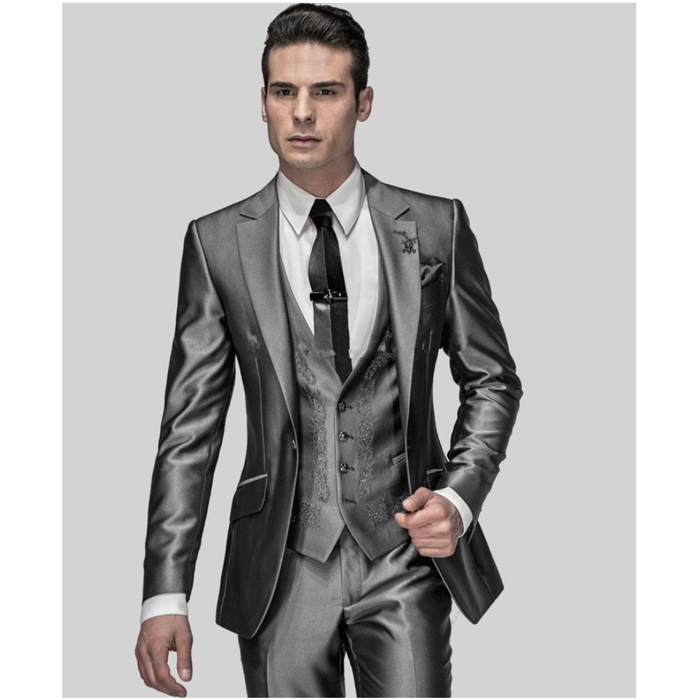 Gentleman Custom Made Male Suits  Wedding Suits For Man Groomdmen Tuxedos