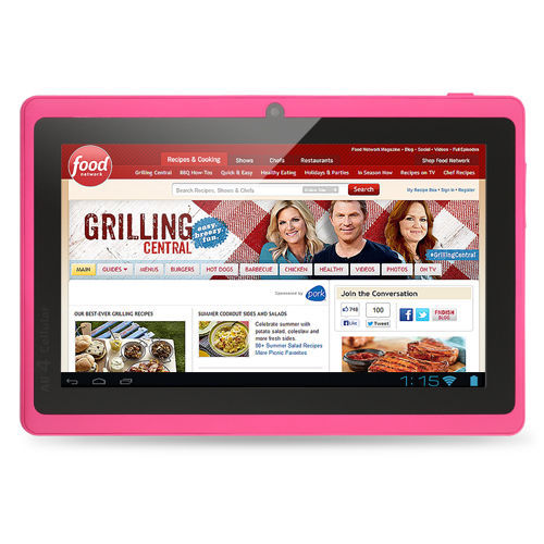 7 inch Tablet PC Android 4.4 Google A33 Quad-Core 1G-16GB Bluetooth WiFi FlashTablet PC android tablet 1GB 16GB pink tablets(China (Mainland))