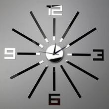 Buy *Creative Home Wall Clock Western style Simple Fashion Mute DIY Mirror Wall Clock Wall Stickers Clock for $11.00 in AliExpress store