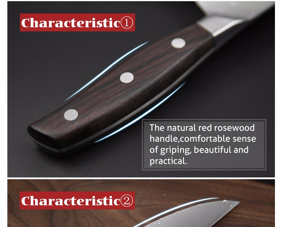 Buy XINZUO 8 inch chef knife GERMAN DIN1.4116 steel kitchen knives rosewood handle sharp cleaver knife kitchen tackle free shipping cheap
