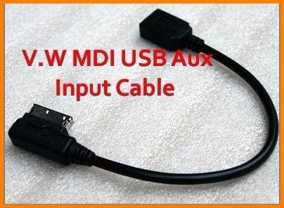 V.W MDI USB Aux Input Cable Adapter Jetta/GTI/GLI/Golf/Passat/Tiguan/Touareg - Wiiki-Tech (Dongguan store Electronic Inc)