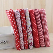 New 7pcs Red 100% Cotton Patchwork Fabric for DIY Sewing Quilting Tissue Kids Bedding Textiles Tilda Doll Cloth Fabric 50*50cm