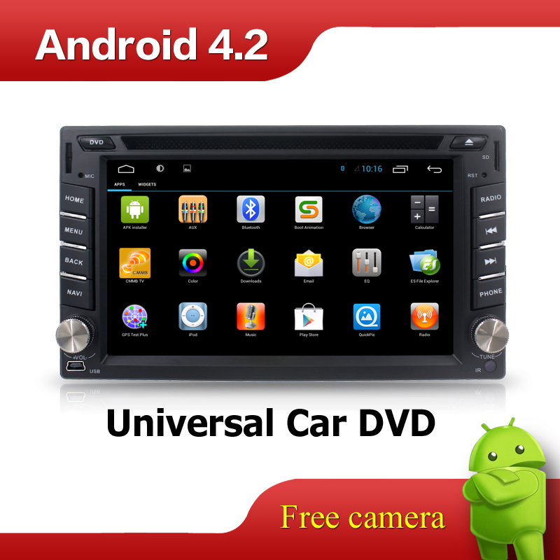 In Dash Universal Double 2 Din Pure Android Car DVD player GPS+Wifi+Bluetooth+Radio+2GHZ CPU+DDR3+Touch Screen+3G+car pc+aduio(China (Mainland))