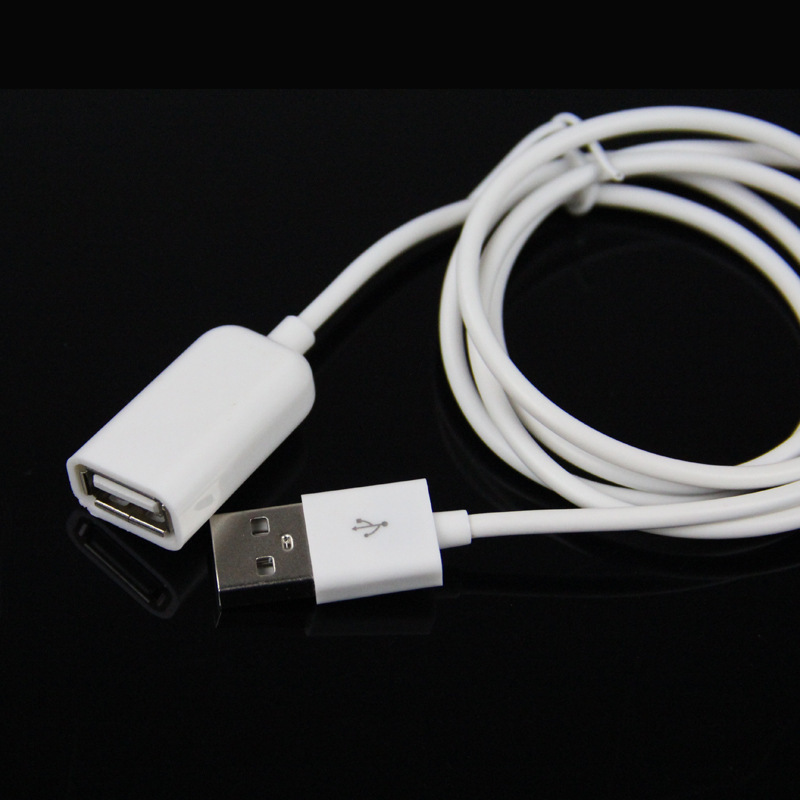 Free shipping USB 2.0 A white Male to Female Extension Cable 0.5M Extender Charge USB Extra Cable for laptop PC(China (Mainland))