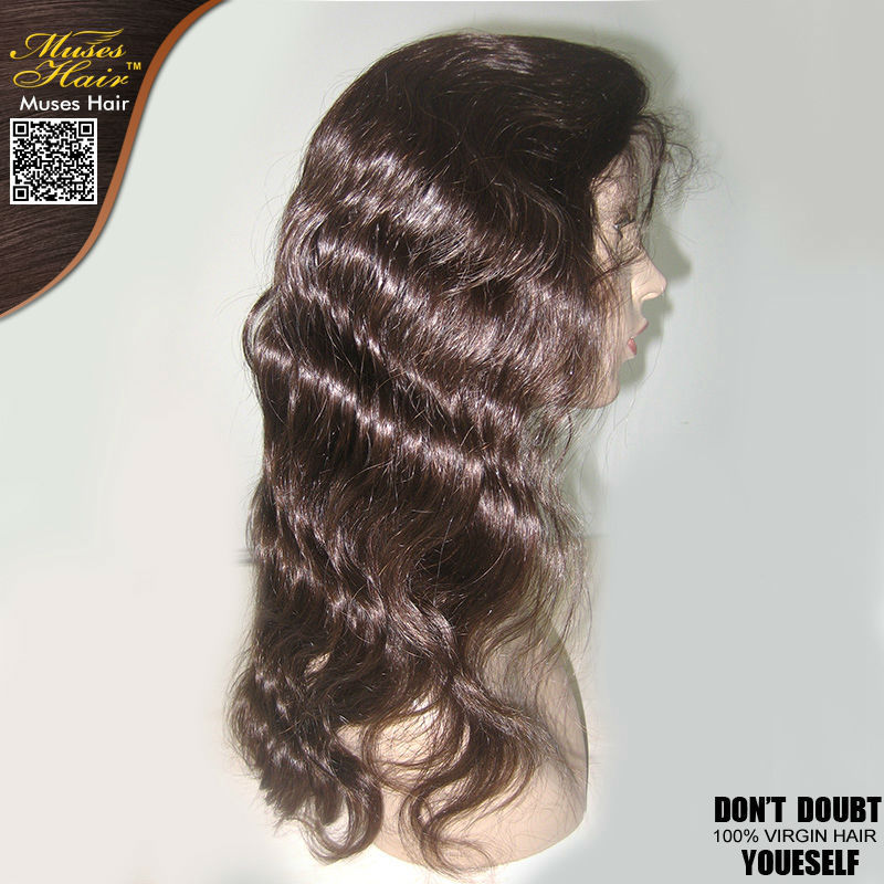 Unprocessed 6A Body Wave Full Lace Wigs Malaysian Natural Hairline Wavy Baby Human Virgin Hair Lace Front Wigs For Black Women(China (Mainland))